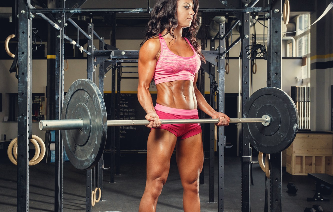 Photo wallpaper strength, workout, fitness, gym, dumbbell, technique