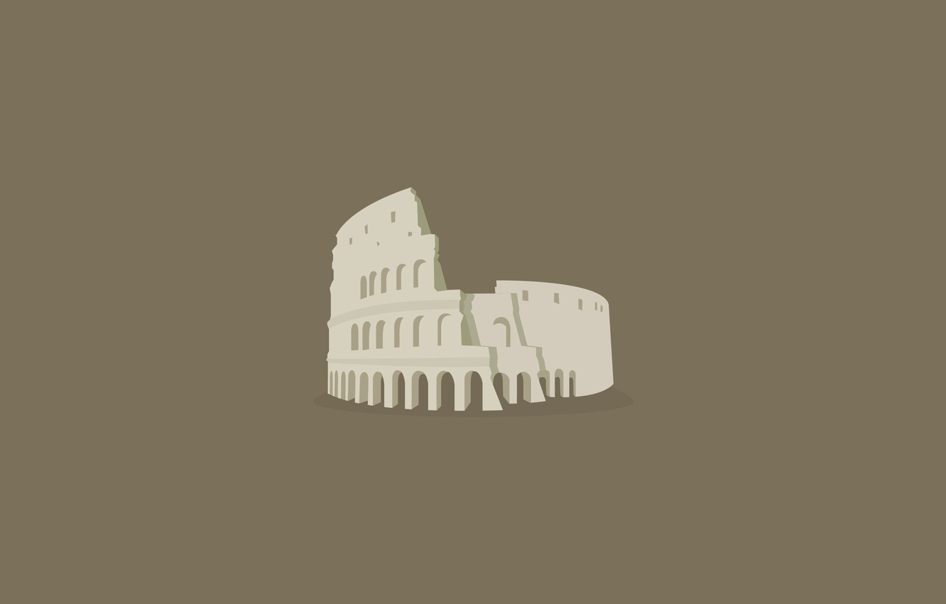 Photo wallpaper the building, minimalism, Italy, theatre, history