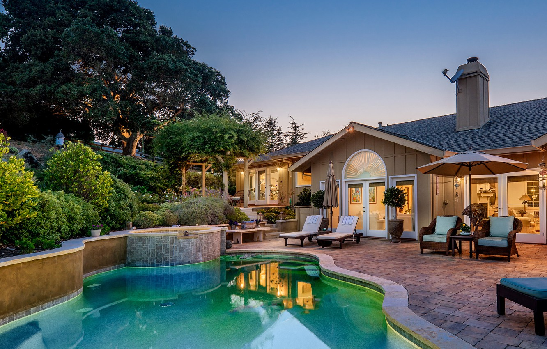 Photo wallpaper house, Villa, pool, mansion