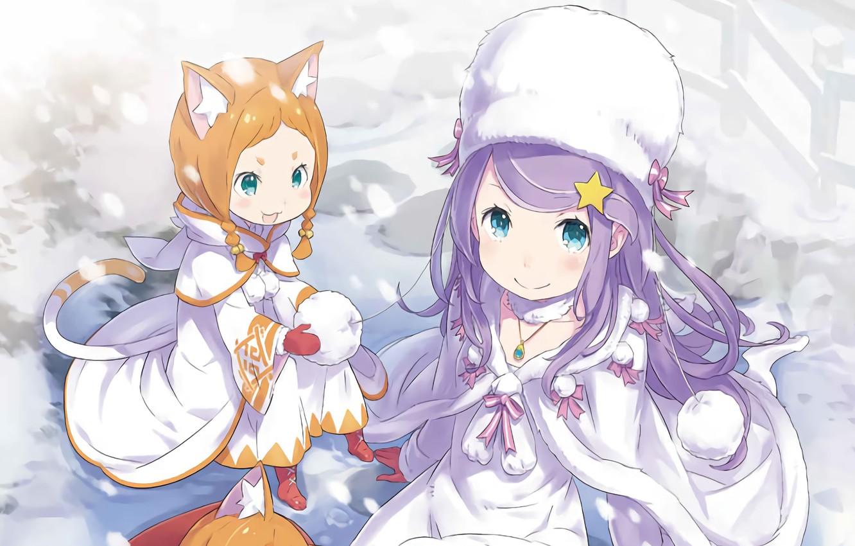 Photo wallpaper girls, Re: Zero kara hajime chip isek or Seikatsu, Mimi Pearlbaton, Anastasia Hoshin
