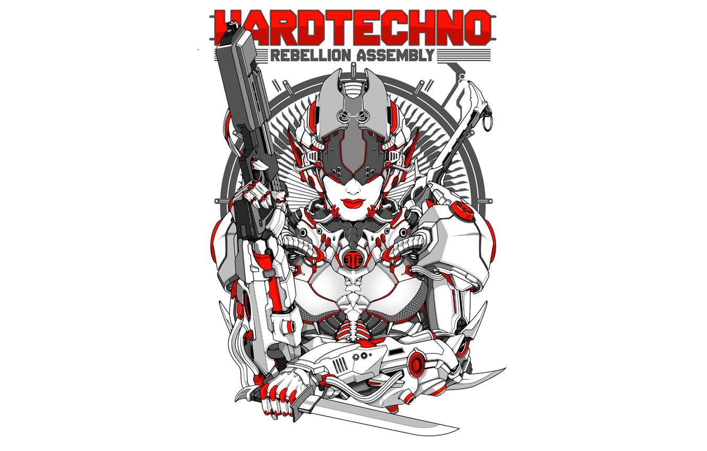 Photo wallpaper style, music, figure, robot, vector, armor, costume, cyborg, direction, hardtechno, hardtechno