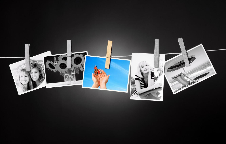 Photo wallpaper summer, memories, photo, mood, photos, summer, pictures, clothespins, color, black, memories, among, wallpaper., рhotos, belyih