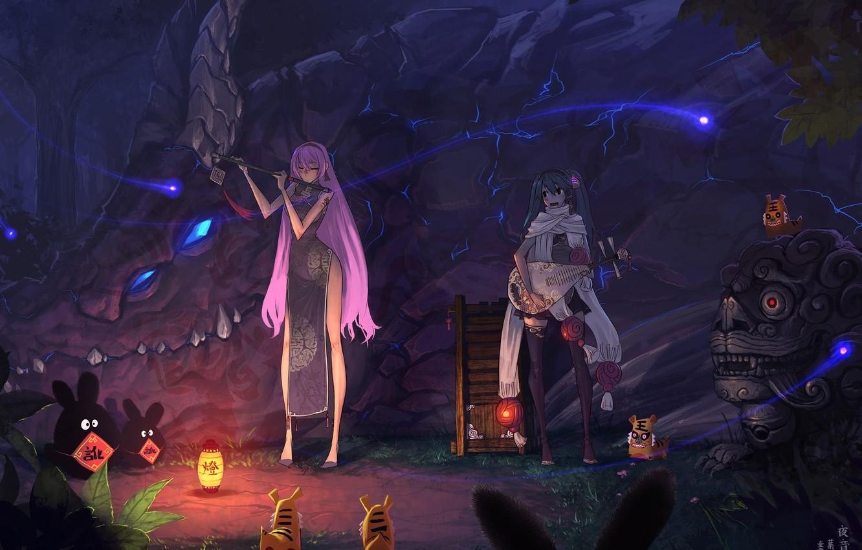 Wallpaper Vocaloid Hatsune Miku Megurine Luka Live Images For
