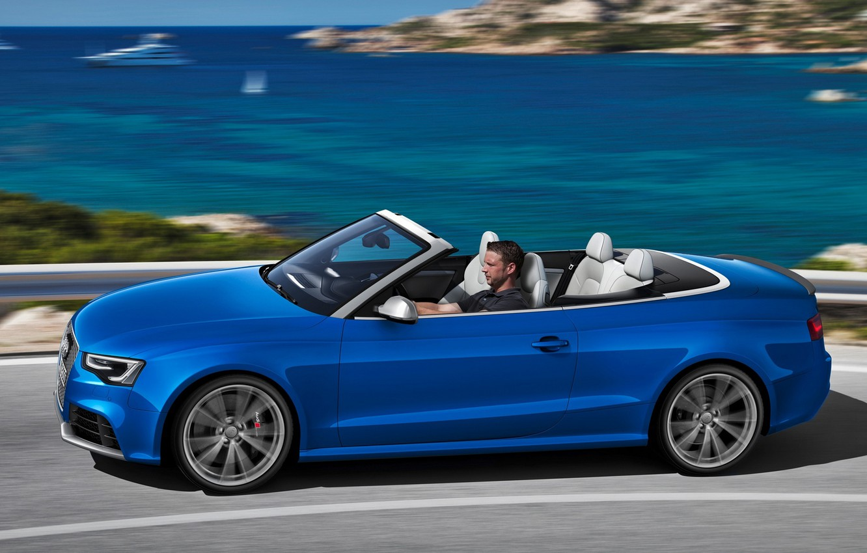 Photo wallpaper Audi, Sea, Audi, Speed, Convertible, Blue, Beautiful, Car, 2012, Car, RS5, Wallpapers, New, Cabriolet, Wallpaper, …