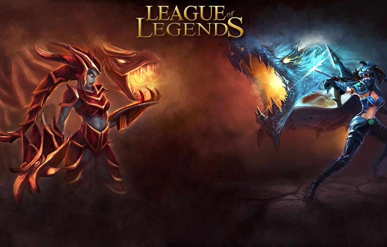 Photo wallpaper Dragon, League of Legends, Shyvana, Vane