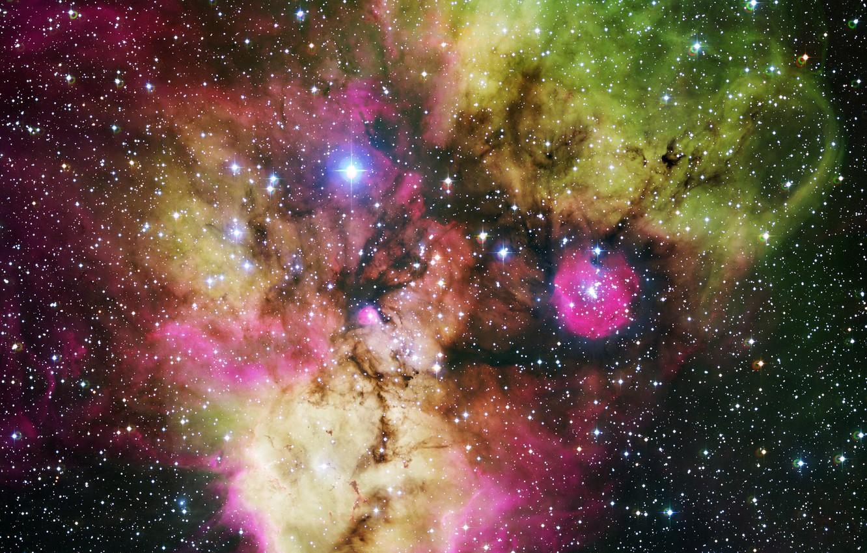 Photo wallpaper nebula, Hubble, beautiful, colorful