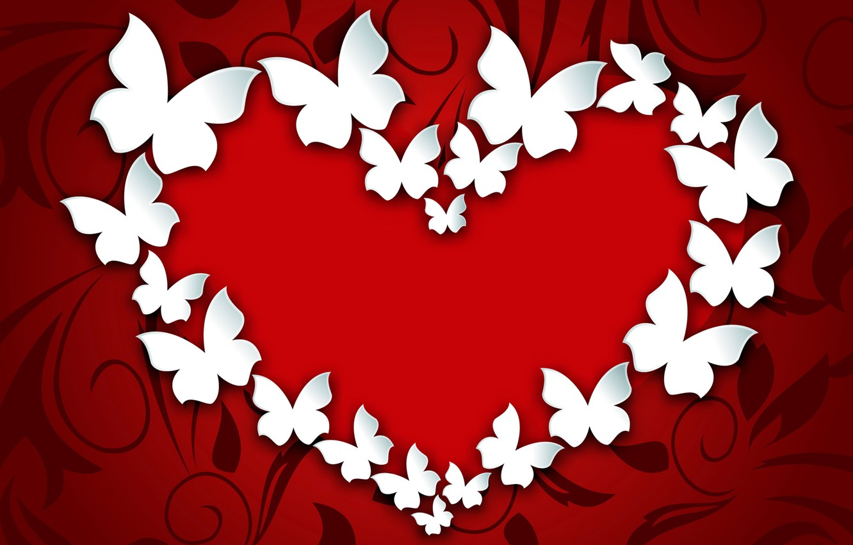 Wallpaper Butterfly Heart Love Heart Romantic Valentine S Day