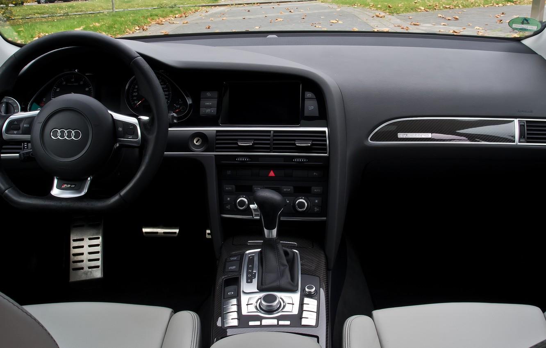 Photo wallpaper Audi, Audi, Salon, The wheel, Before, RS6