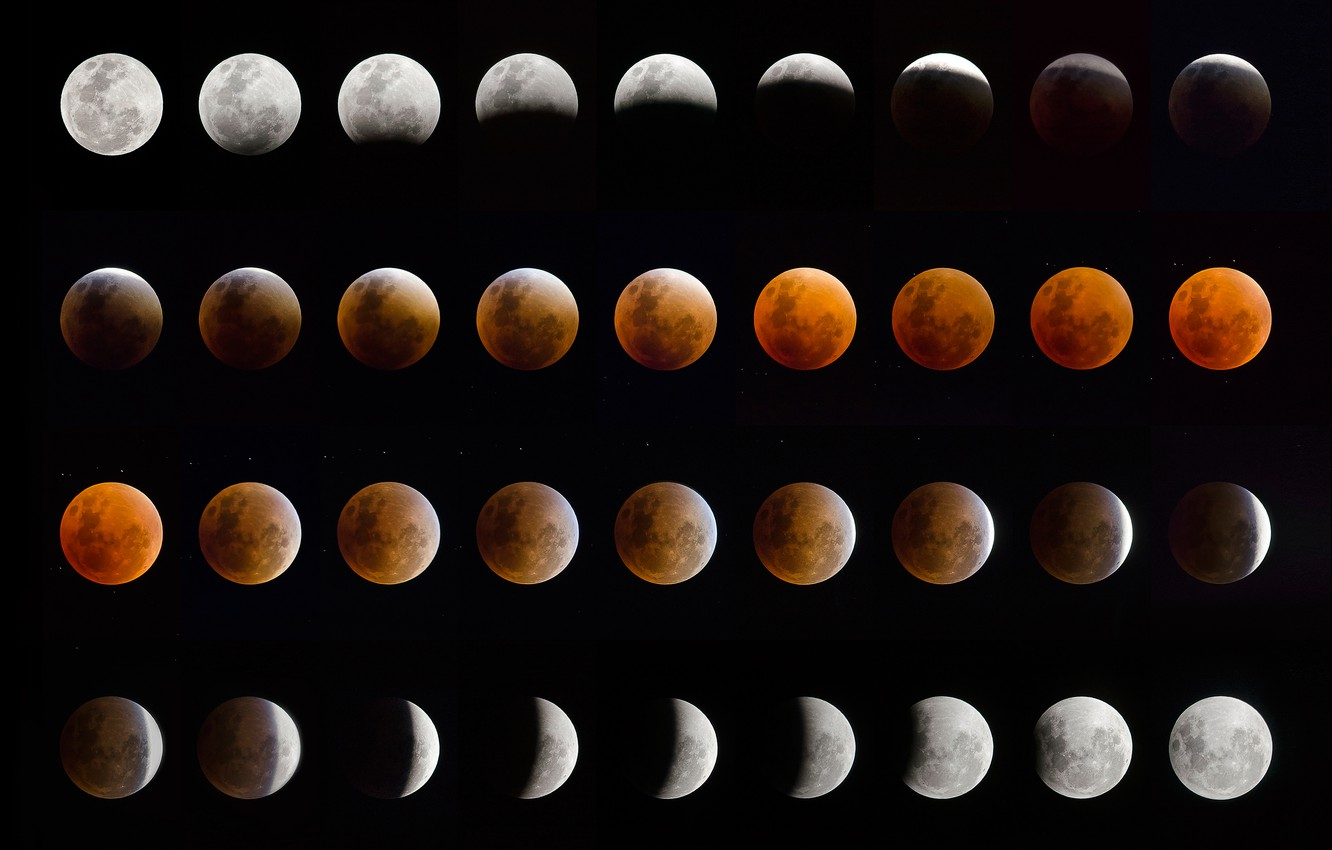 Wallpaper The Moon Eclipse Phase Lunar Eclipse Images For