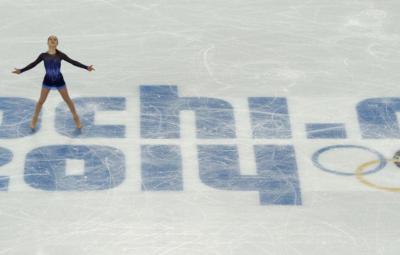 Photo wallpaper ice, arena, Sochi 2014, Yulia Lipnitskaya, skater