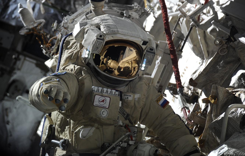 Photo wallpaper Astronaut, Russia, Roscosmos