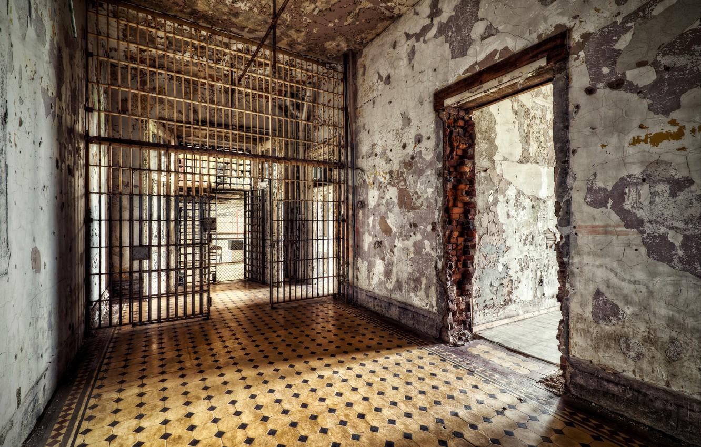 Photo wallpaper interior, camera, prison