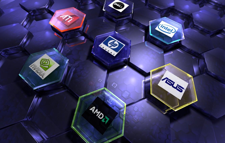 Wallpaper Nvidia Amd Internet Intel Ati Art Logos Hi Tech Asus Brand Images For Desktop Section Hi Tech Download