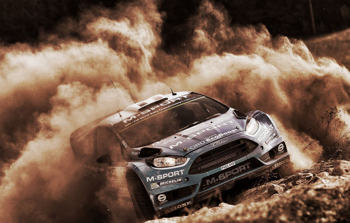 Photo wallpaper Ford, Dust, WRC, Rally, Fiesta, RS