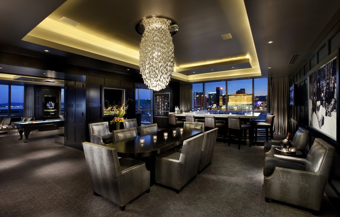 Photo wallpaper design, the city, house, style, interior, club, public space