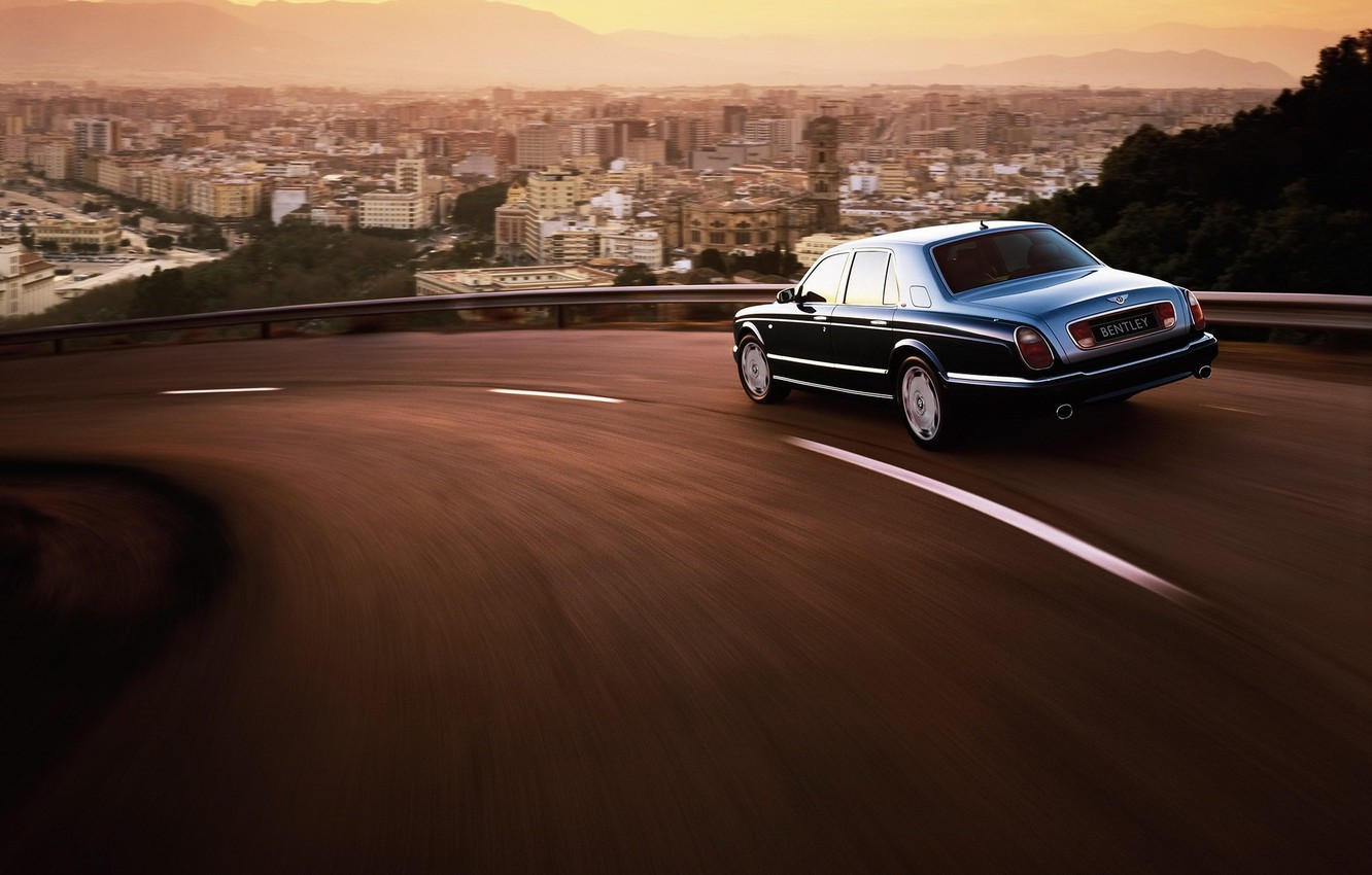 Photo wallpaper the city, Bentley, Arnage, turn