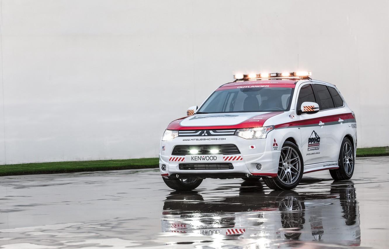 Photo wallpaper Mitsubishi, Mitsubishi, crossover, Safety Car, Outlander, Outlander