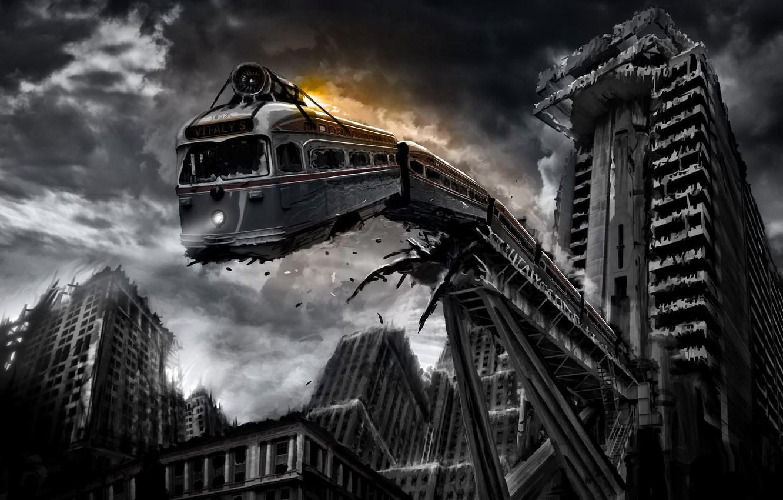 Photo wallpaper metro, Apocalypse, building, the ruins