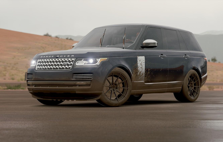 Photo wallpaper dirt, Rain, Range Rover, Rain, Forza, Horizon 3, Turn10
