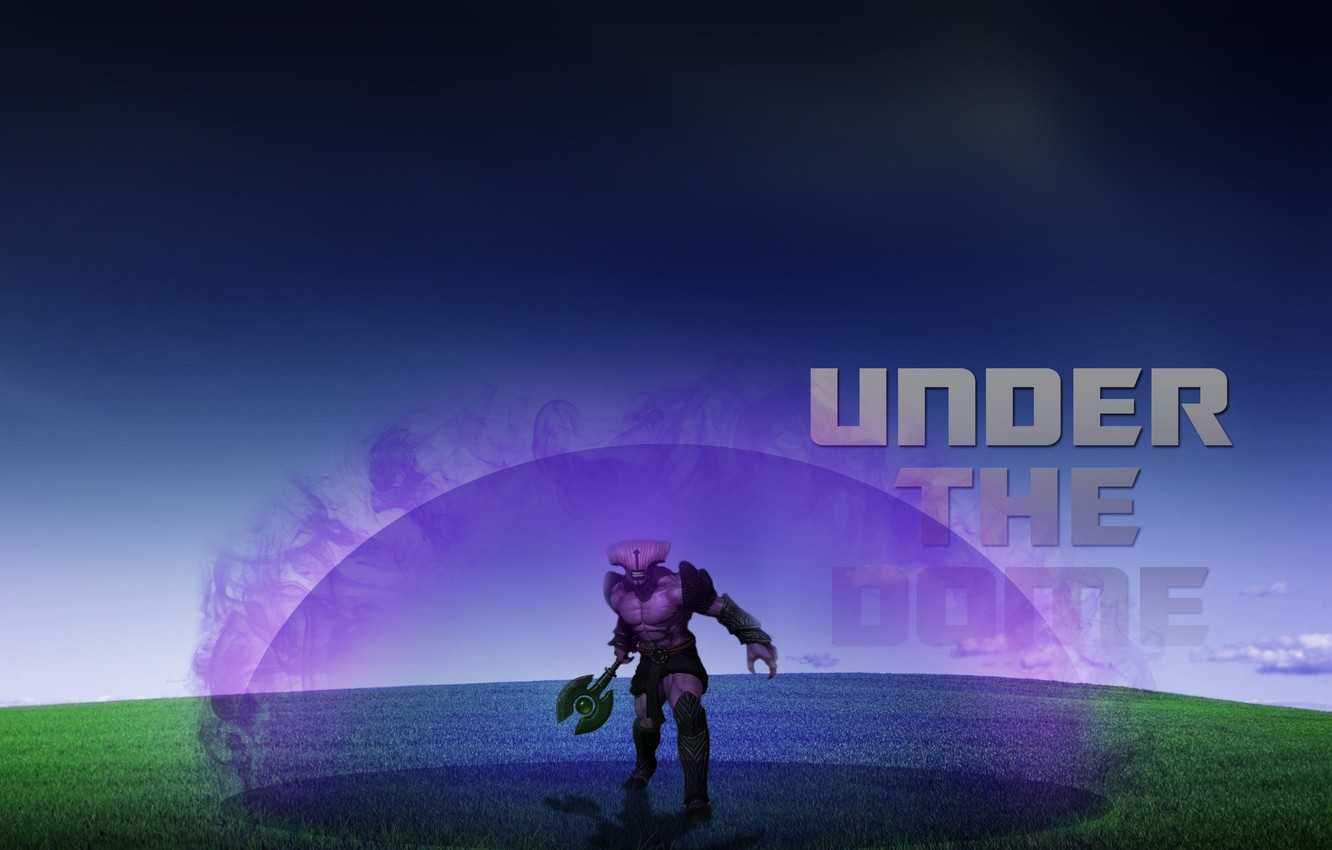 Wallpaper The Sky Grass The Dome Fail Dota Dota 2 Dota