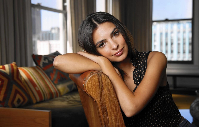 Photo wallpaper model, actress, photoshoot, Emily Ratajkowski, 2015, Emily Ratajkowski, LA Times