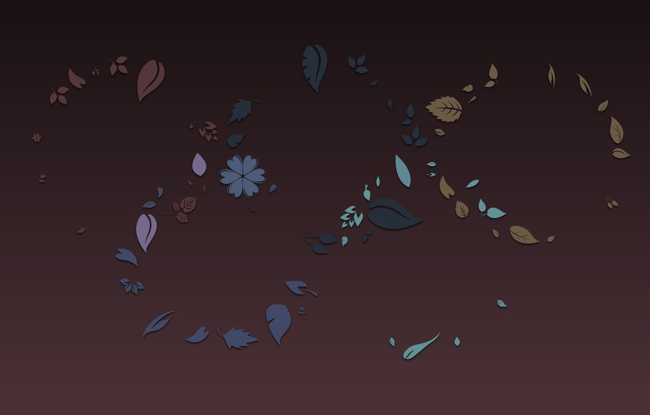 Photo wallpaper flowers, grey, background, texture, leaves, Burgundy