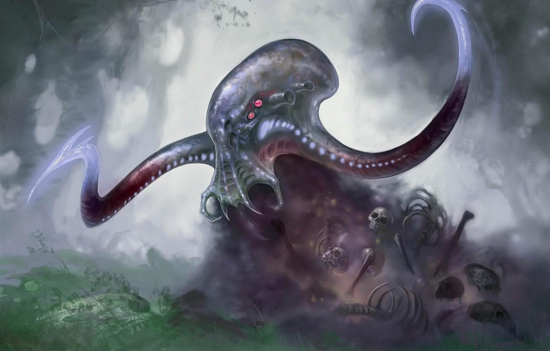 Photo wallpaper figure, octopus, Cthulhu