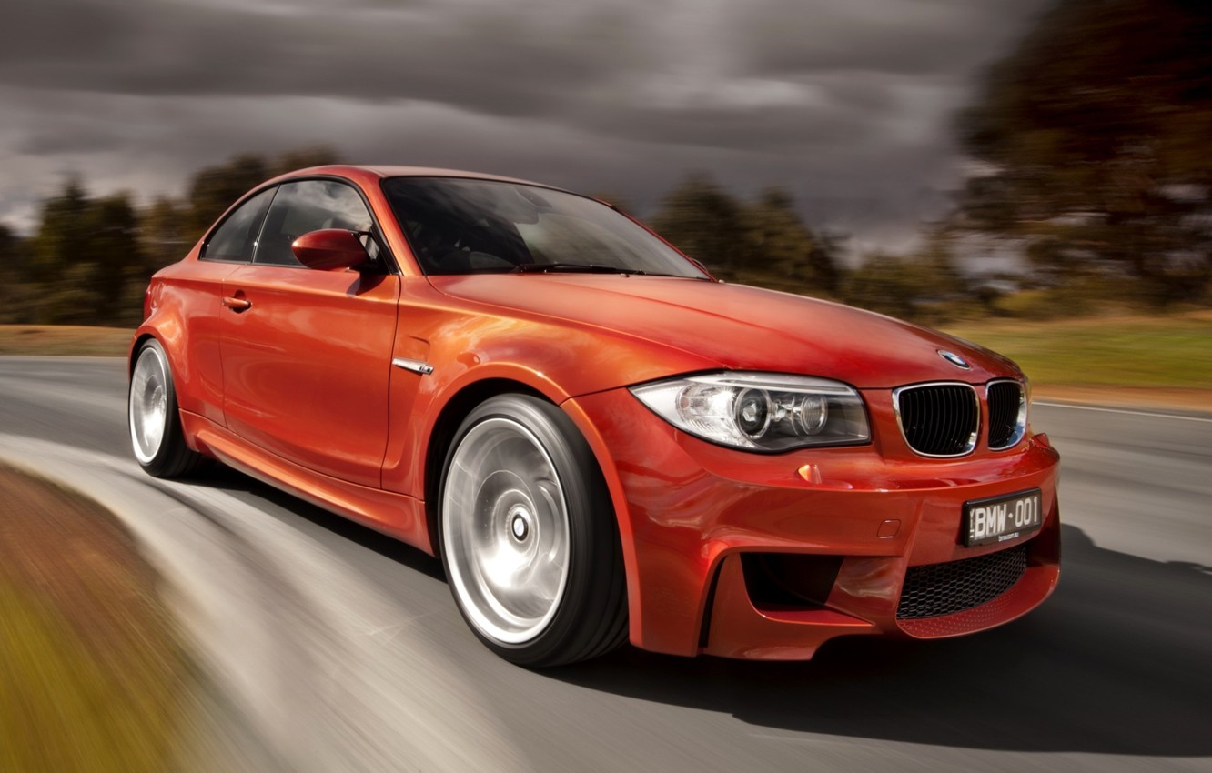 Photo wallpaper background, BMW, BMW, the front, 1 series, M coupe, powerto