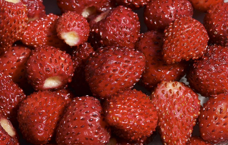 Photo wallpaper red, berries, Strawberry
