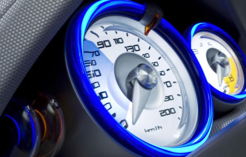 Photo wallpaper speed, speed, spedometr, French car, Renault Kangoo