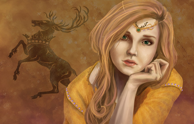Photo wallpaper look, girl, background, art, green eyes, Game of Thrones, Myrcella Baratheon