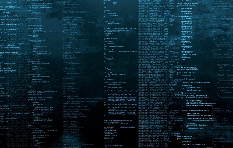 Photo wallpaper DOS, Doom, code