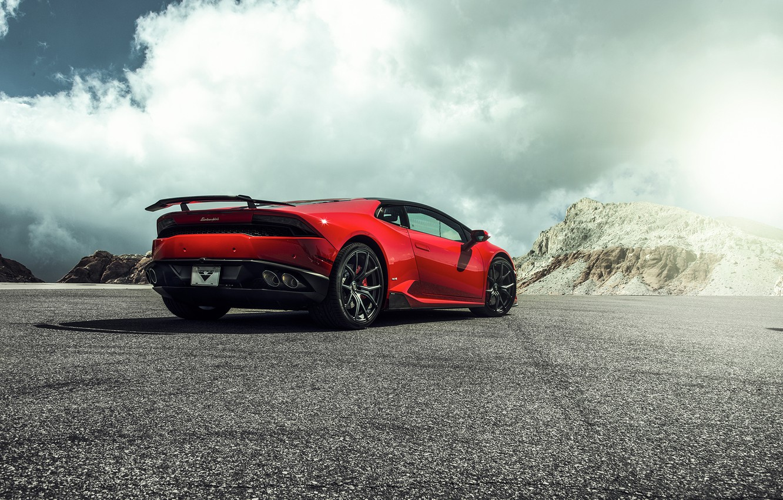 Photo wallpaper Lamborghini, Red, Lamborghini, 2015, LP 610-4, Huracan, hurakan, Krsna
