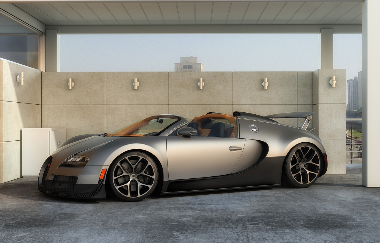 Photo wallpaper machine, graphics, art, Bugatti, Grand, Veyron, supercar, Sport, Vitesse, dangeruss