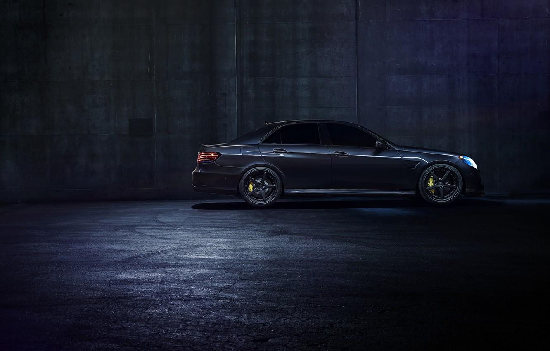 Photo wallpaper Mercedes-Benz, Dark, California, Side, Motorsport, Sonic, E63, Ligth, Nigth, AMG S