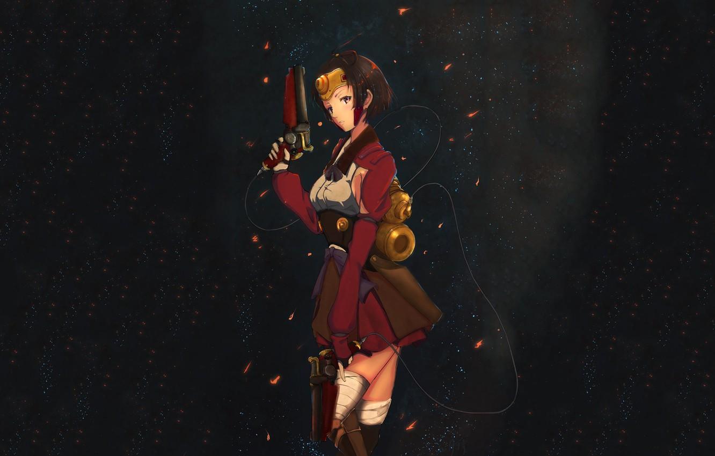 Photo wallpaper girl, weapons, anime, art, Koutetsujou no Kabaneri, Mumei
