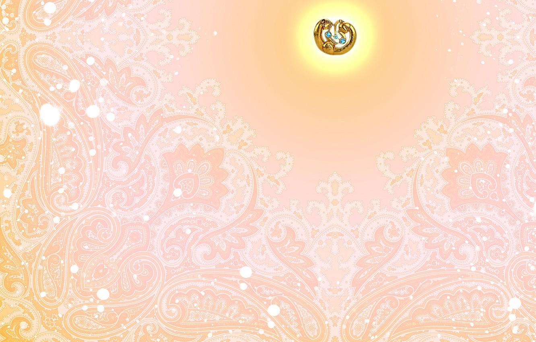 Photo wallpaper pink, pattern, jewelry