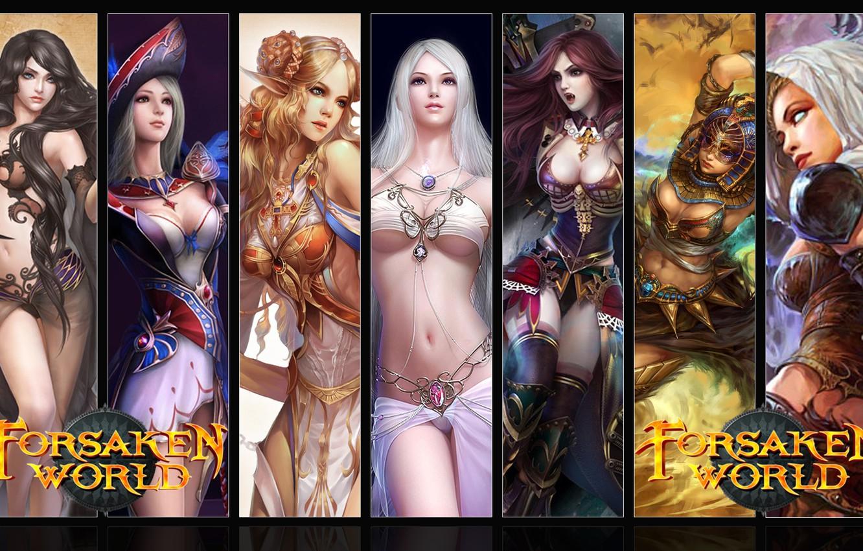 Photo wallpaper Girls, MMORPG, Forsaken World