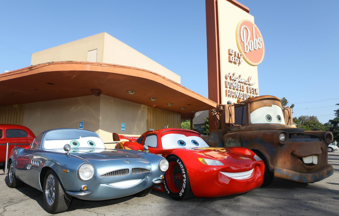 Photo wallpaper background, CARS, the main characters, CARTOON