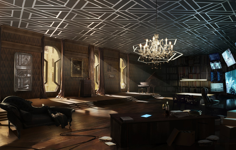 Wallpaper room, cyberpunk, deus ex, apartment, Deus Ex ...