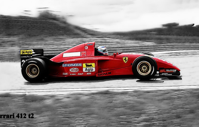 Photo wallpaper black and white, Schumacher, gran prix, Ferrari 412 t2
