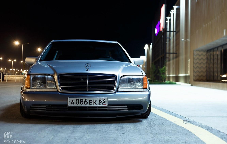 Photo wallpaper Mercedes, W140, S-Class