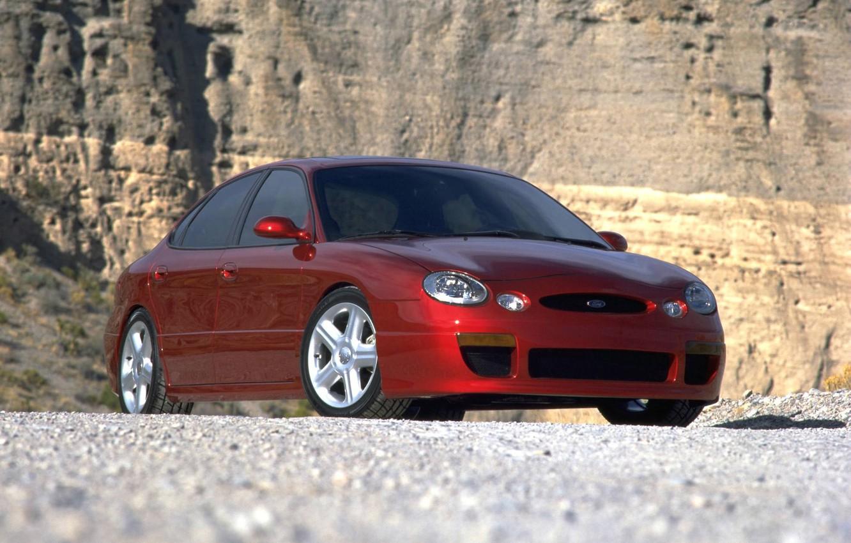 Photo wallpaper Ford, Red, Rage, Taurus