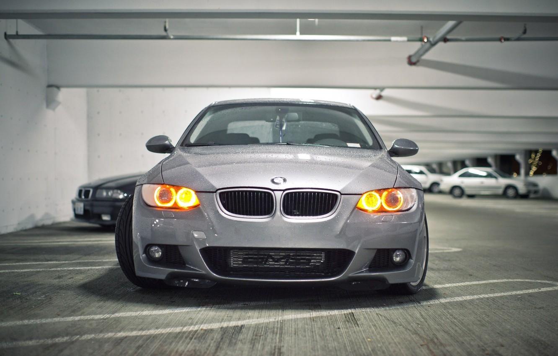 Photo wallpaper BMW, BMW, Parking, Parking