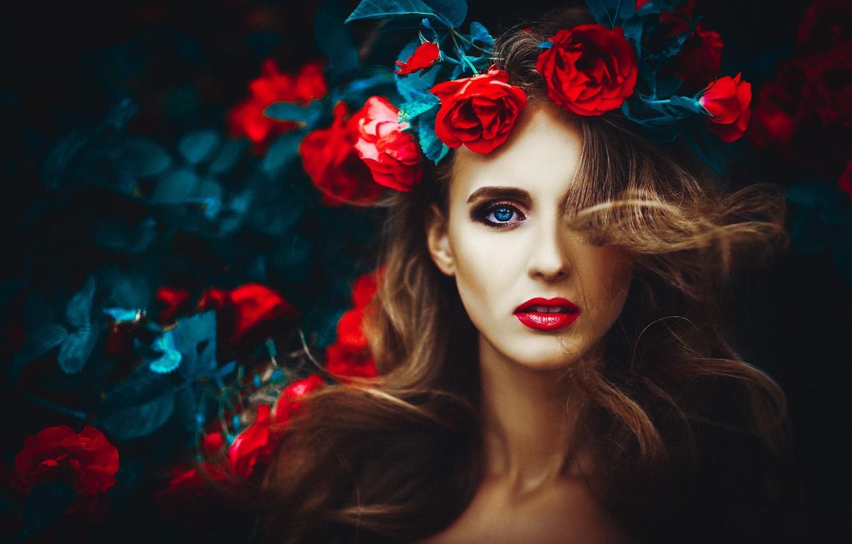Photo wallpaper eyes, face, woman, lips, girl, woman, beautiful, beauty