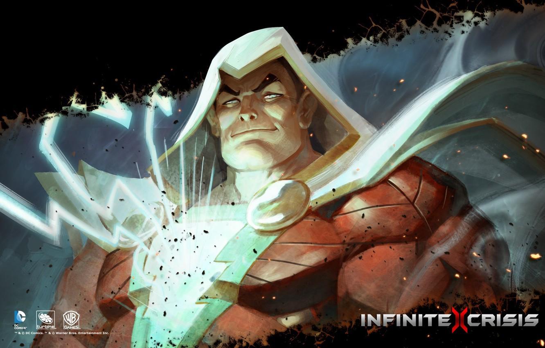 Photo wallpaper DC comics, Warner Games, Infinite Crisis, Shazam