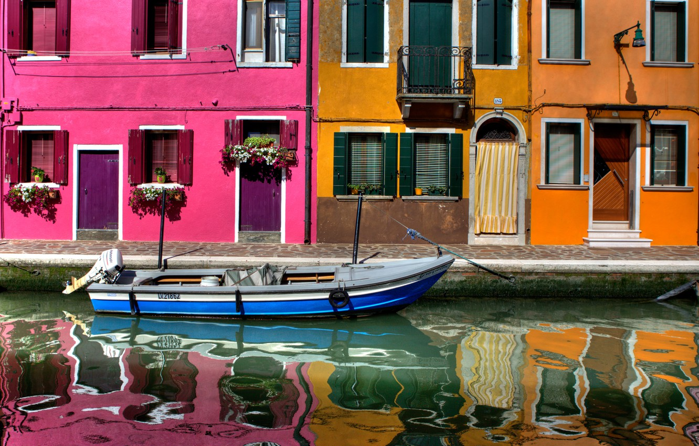 Photo wallpaper Windows, home, Italy, Venice, channel