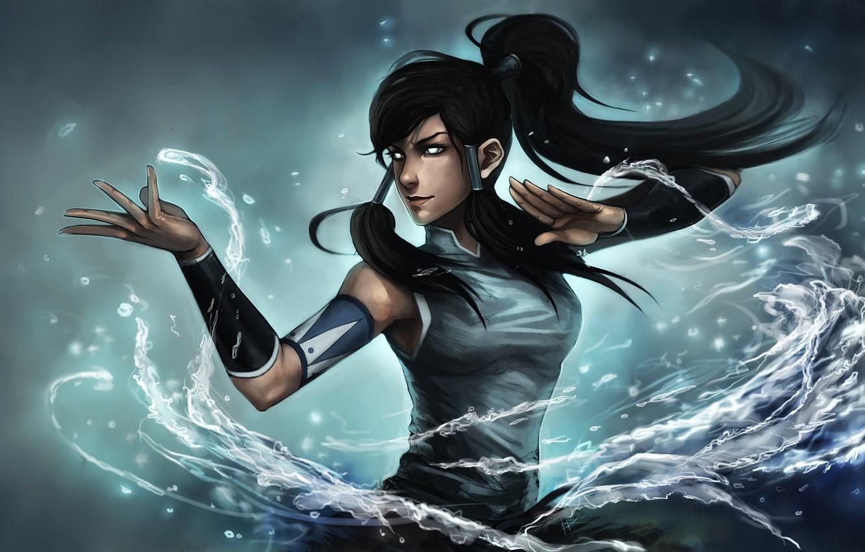 Photo wallpaper eyes, water, girl, art, ninjatic, avatar: the legend of korra, times