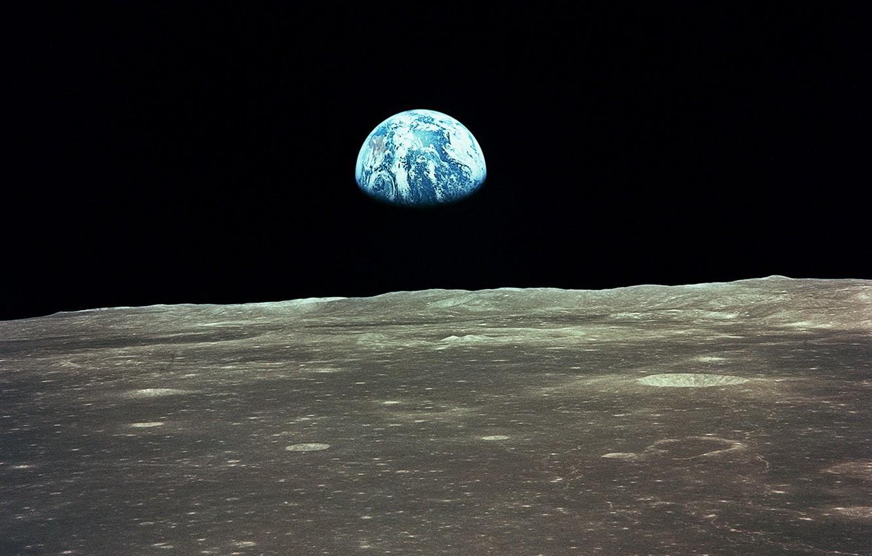 Photo wallpaper earth, planet, The moon