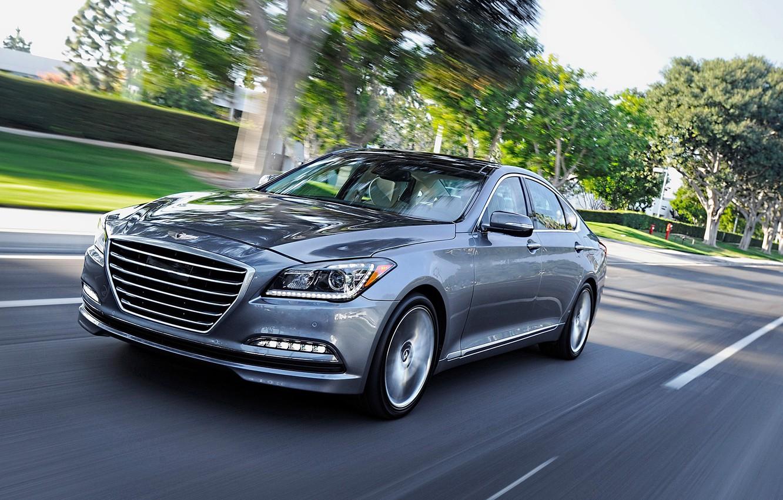 Photo wallpaper road, speed, Hyundai